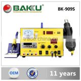 BAKU digital display 3 in 1 hot air soldering rework station with power supply BK-909S soldering station