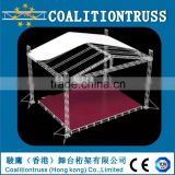 Hot sale Aluminum Stage Lighting Truss System with lifting truss tower