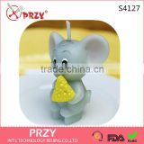 S4127 PRZY Eat rice rat Zodiac small candle silicone mold holiday party supplies wholesale handmade soap molds