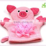 Cartoon kids bathroom Bath Gloves/ Animal Bath Mitt/
