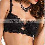 hot sell black women lingerie lace padded push up bra