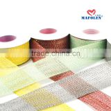 Wholesale best quality decorative 100% jute fabric plain hessian burlap ribbon