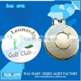Economic golf ball marker with blank golf hat clip
