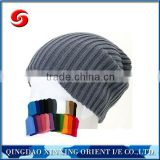 2016 Colorful super quality beanie knitted hat/knitting hat made in china