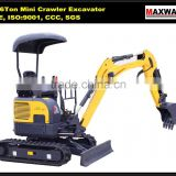 1.6 Ton Mini Size Rubber Track Hydraulic Crawler Excavator , CE / ISO Certificate, CT16-9D