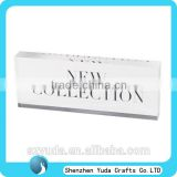 acrylic logo sign block board for photo frame exhibition or public sign board with printing words