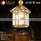 European copper antique chandelier,bar restaurant small brass chandelier living room entrance lamp