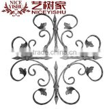 Oil-coated fence and gate decoration part wrought iron stamped flowers & leaves decoration parts
