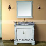 WTS-1288 40'' french luxury boutique Marble bathroom Vanity and Mirror for five star hotel