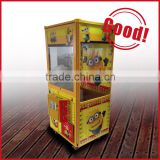 Coin operated prize vending toys candy crane claw machine / key master kids crane games classical arcade game machine