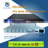 6 Frequencies digital satelite receiver and fta dvb-c/s/s2/t rf to ts & ip demodulator decoder COL5881A