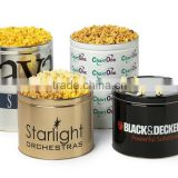New small Popcorn tin bucket with lid