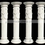 Classic White Greek Square Marble Column