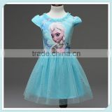 Summer Snow Queen Elsa Anna Dress Princess Dresses for Party Children Toddler Girls Clothing baby girl wearing Kids Girl Dresses