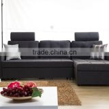 Modern design i shape storage box sofa bed / cheap sofa cum bed / metal frame sofa bed with futon