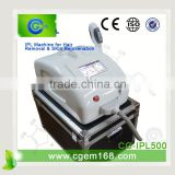 560-1200nm CG-IPL500 NEW! CE Approved Weight Loss Beauty Ipl Salon Home Device For Scar Removal Armpit / Back Hair Removal
