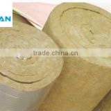 Absorb Noise Fireproof 5000*600*50mm Fire Resistant Rock Wool Insulation Blanket with Aluminu Foil