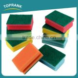 Toprank Hot Sale Household Cleaning Tools Kitchen Sponge Scouring Pad Non-abrasive Green Dish Scouring Pad