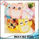 NBRSC Wholesale Portable Kids Cute Owl Lunch Box Food Storage Container Plastic Bento Box with Spoon