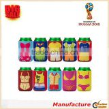 2018 Rusia World Cup 3mm Thick Neoprene Can Cooler Funny Theme Design Can Cooler Bag High Quality Gift Can Cooler Holder