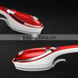 SY-16 newly designed plastic housing handheld steam brush iron with brush,fabric pad,creaser and vertical/burst steaming