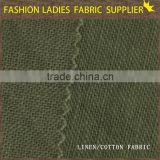 manufactory to produce high and good handfeel solid one plain weave fabric 50% linen 50% cotton