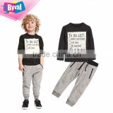 kids clothing wholesale high quality kids track suit design custom hoodies printing fabric kids track suit 100%cotton