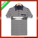 high quality stripe polo t-shirt With Short Sleeve