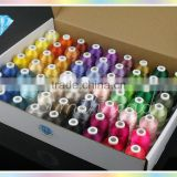 Wholesales 1000m mini-king spool 100% polyester embroidery thread for home embroidery machines