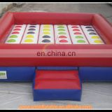 Giant inflatable twister game,inflatable twister mattress for entertainment