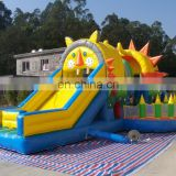 New inflatable obstacle with slide for sale
