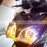 "2.0"" HID bi-xenon projector lens HID headlamp double angel eyes projector headlight"
