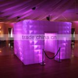 3*3*2.5M cheap inflatable photo booth inflatable photo studio enclosure tent with LED light