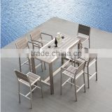 Eyko 2015 USA fashion Bar/Outdoor/Garden Aluminum and WPC Bar table and chairs                                                                         Quality Choice