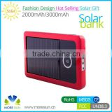 2015 wholesale 3000mah solar cellphone power bank charger , portable solar power bank 3000mah