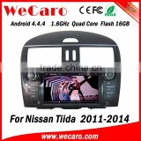 Wecaro WC-NT8078 Android 4.4.4 car multimedia system double din for nissan tiida radio audio system tv tuner 2011-2014