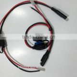 Custom UL 1015 16AWG Red and Black wire Mold Fuse holder and Install 15A Trailer wire harness