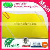 Brilliant yellow luminous color powder coating