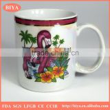 white sublimation ceramics porcelain mark mug coated five colors pearl glazed for souvenir custom mug