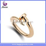 New simple design cheap price 18k gold plated fashion design wedding ring ( YWR5044-1)                                                                         Quality Choice