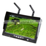 All-in-one 7inch HD LCD FPV Monitor Built-in Battery and 32CH 5.8G Wireless Diversity Receiver