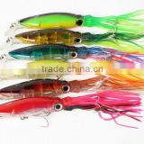 10 pcs hard Squid fishing lures Soft tail squid with hook Top water Lures Trolling Bait 9 Inch 45 g Colors mixed