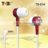 New products looking for distributor free sample mobile phone accessory MP3/MP4 fashion modeling earphone China wholesale TB-E34