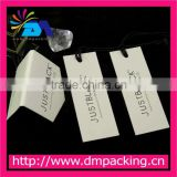 Custom printed paper label tag with rope for bag&jewelry
