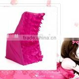 petal back lifetime taffeta chair cover/fancy modern outside garden chair cover/furniture hotel chair cover
