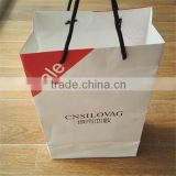 Luxury Design Custom Made Recycled White Brown Kraft Apparel Paper Bag for Garment Cloth