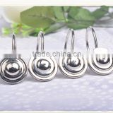 wholesale Stainless steel curtain hook,unique shower curtain hooks,shower curtain track hooks