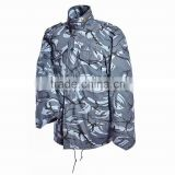 Outerwear unisex parka jackets with detachable warm liner in British Marine color for military use