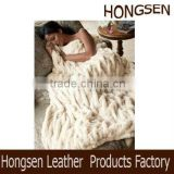 HSTH049 100% Polyester PV Plush Blanket Fake Fur Blankets                                                                         Quality Choice