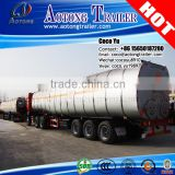 Stainless steel or Carbon steel high performace 3 axles 45000L water tank trailer prices